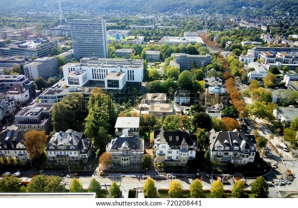 Bonn, Germany 21 of september 2017: View at Bonn City buildings from Langer Eugen UN Building
