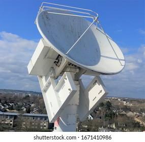 Bonn, Germany - 3/9/2020: Bonn University weather and research X band radar.