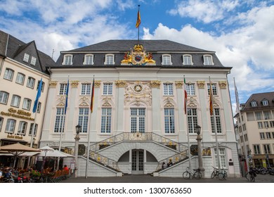 Bonn, Germany - August 7th 2012: A view of the historic Old Town Hall in the city of Bonn in Germany.
