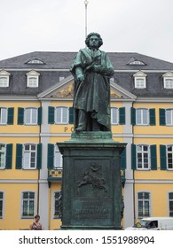 BONN, GERMANY - CIRCA AUGUST 2019: Beethoven Denkmal (unveiled 1845) bronze statue