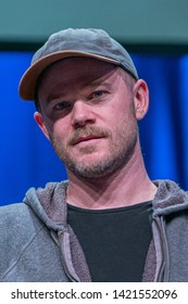 Bonn, Germany - June 8 2019: Aaron Ashmore (*1979, Canadian actor - Killjoys  ) at FedCon 28, a four day sci-fi convention. FedCon 28 took place Jun 7-10 2019.