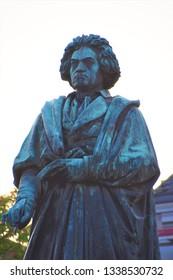 Bonn, Bonn / Germany - March 20 2018: Beethoven statue closeup