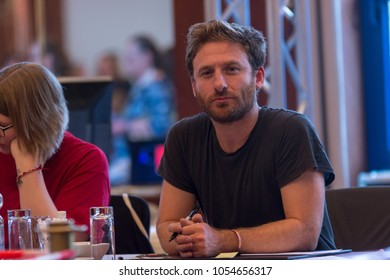BONN, GERMANY - MARCH 24: Actor Dean O'Gorman (The Hobbit) signing autographs at MagicCon, a three-day (March 23-25 2018) fantasy & mystery fan convention.