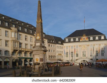 BONN, GERMANY - MAY 17: The Old City Hall on the Market Square on MAY 17 in Bonn, Germany. Bonn is former capital of Germany with population of 330,000.