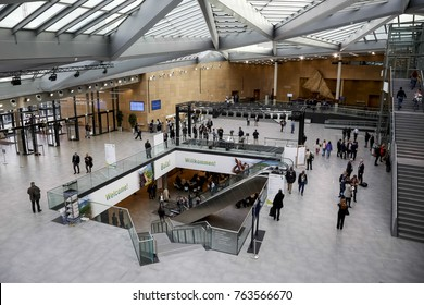 Bonn, Germany, November 14, 2017: Bonn conference centre, Bula Zone during  COP23 Fiji conference in . COP23 is organized by UN Framework Convention for Climate Change.