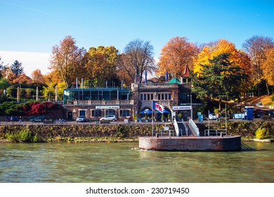 BONN, GERMANY - OCTOBER 21: View of a villa on October 21, 2012 in Bonn, Germany. Bonn is former capital of Germany with population of 330,000.
