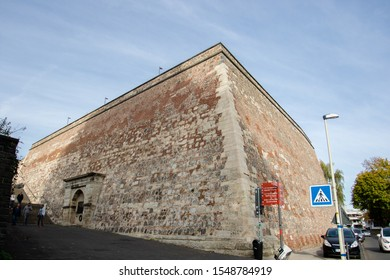 Bonn, Germany - October 25, 2019: The Old Customs (Alter Zoll) is a former, also Dreikonigen called, bastion of the Bonn city fortification on the Brassertufer street
