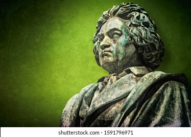 Bonn, Germany - old monument by Ludwig van Beethoven
