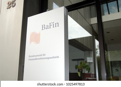 Bonn, North Rhine-Westphalia / Germany - July 06, 2008: Sign of the Federal Financial Supervisory Authority - Bundesanstalt fuer Finanzdienstleistungsaufsicht, BaFin - Headquarters Bonn, Germany