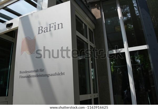 Bonn, North Rhine-Westphalia / Germany - May 14, 2018: Sign of the Federal Financial Supervisory Authority - Bundesanstalt für Finanzdienstleistungsaufsicht, BaFin - Headquarters Bonn, Germany