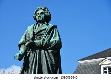 Bonn, North Rhine-Westphalia / Germany - September 25, 2018: Beethoven Monument in Bonn, Germany - Ludwig van Beethoven was a German Composer and pianist