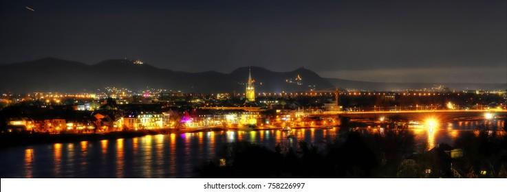 Bonn Panorama at Night, Germany