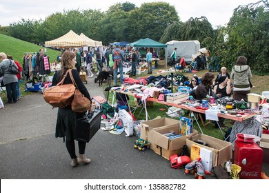 BONN - SEPTEMBER 15: View of flea market in Bonn, Germany on September 15, 2012. With about 1800 sellers it is one of the biggest in Germany.