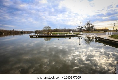 BONNET CARRE SPILLWAY, UNITED STATES - Feb 11, 2018: Bonnet Carre Spillway, Louisiana - February 2018: Camping and fishing is permitted at the Bonnet Carre Spillway.