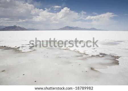 Bonneville Salt Flats Great Salt Lake Stock Photo Edit Now