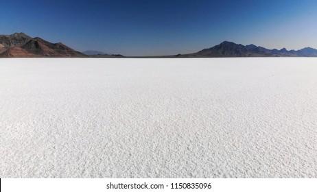 Bonneville Salt Flats  in Utah near the Utah-Nevada border
