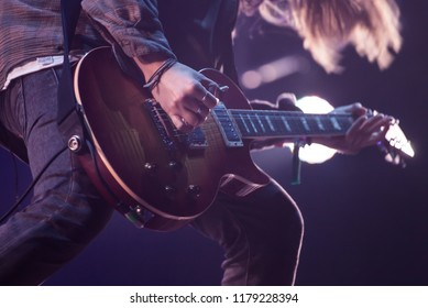 Bontida, Romania - July 22, 2018: Nothing But Thieves, an English alternative rock band, formed in 2012 in Southend-on-Sea, performing live on the main stage at Electric Castle festival.