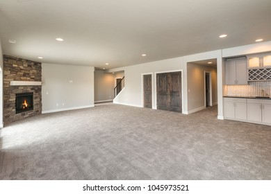 Bonus Room or Rec Room with A fire Place