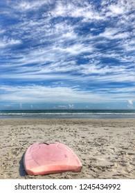 Boogie board on the beach