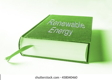 Book about renewable energy, symbol for knowledge