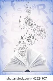 Book and alphabet