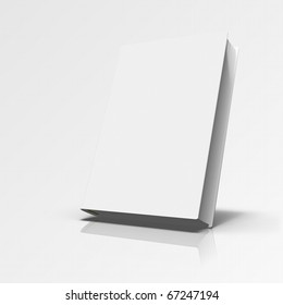 Book in angle on grey gradient background