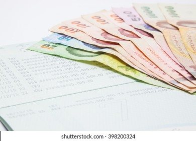 book bank with Thai money