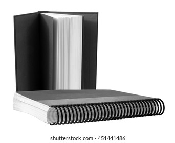 Book and Binder on a white background