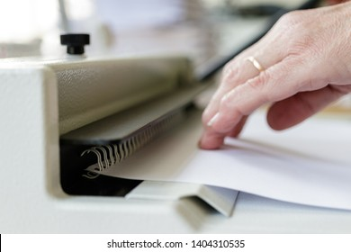 Book Binding Machine Operator. Book binding machine. Work with Book binding machine. Printing equipment.