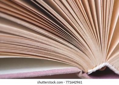 book binding and page, macro