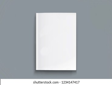 book blank cover, isolated mockup book with realistic shadow on a clean background. Front view of elegant notepad or photobook with binding mock up for catalog.