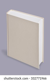Book, blank book standing on grey background,  Perspective view.