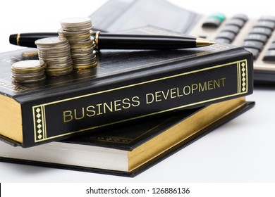 Book of business development on business desk