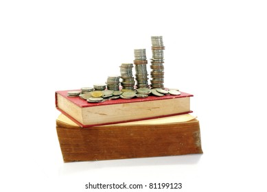 Book and coins