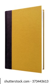 Book cover manila brown front view, upright vertical isolated on white