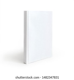Book cover mockup on a white background. Blank cover book