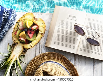 Book Fruits Poolside Concept