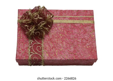 book in gift packing for a holiday isolated over white