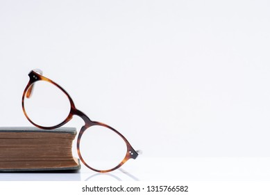 Book and glasses concept for education