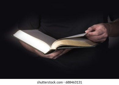 Book in the hands