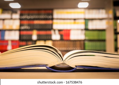 a book lying on the bookshelf in Library