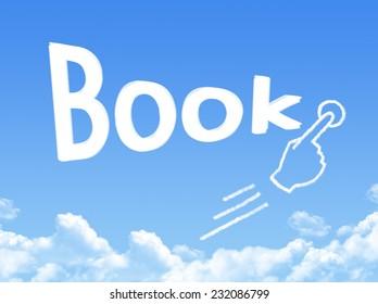 book message cloud shape