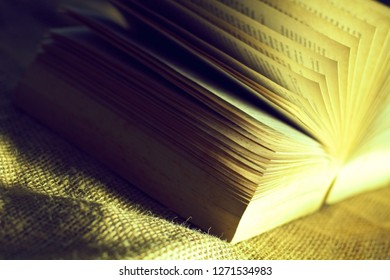 Book on abstract background