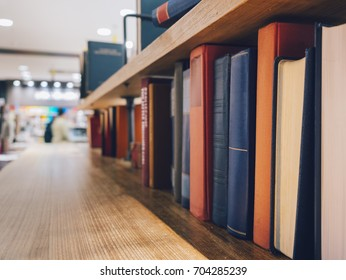 Book on Bookshelf Library room interior Reading Education concept