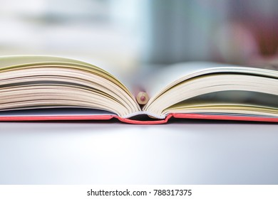 a book on the desk