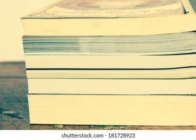 Book  on table vintage scene