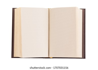 Book open middle page isolated on white background
