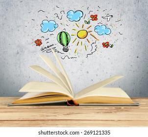 Book, Open, Novel.