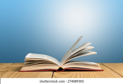 Book, open, page.