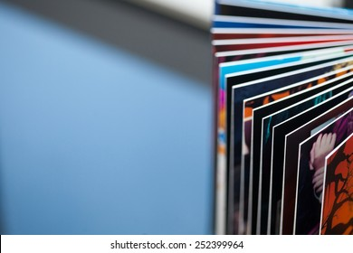 Book pages abstract
